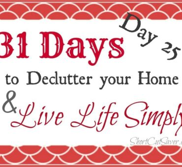 31 Days to Declutter Your Home & Live Life Simply: Car (Day 25)