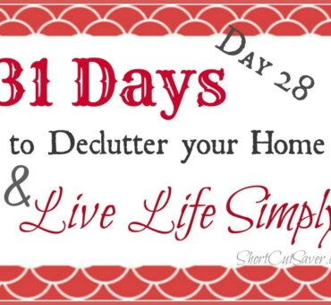 31 Days to Declutter Your Home & Live Life Simply: Garage (Day 28)