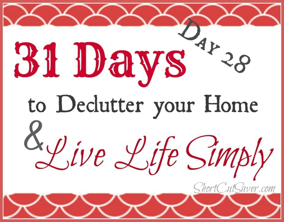 31 Days to Declutter Your Home & Live Life Simply: Garage