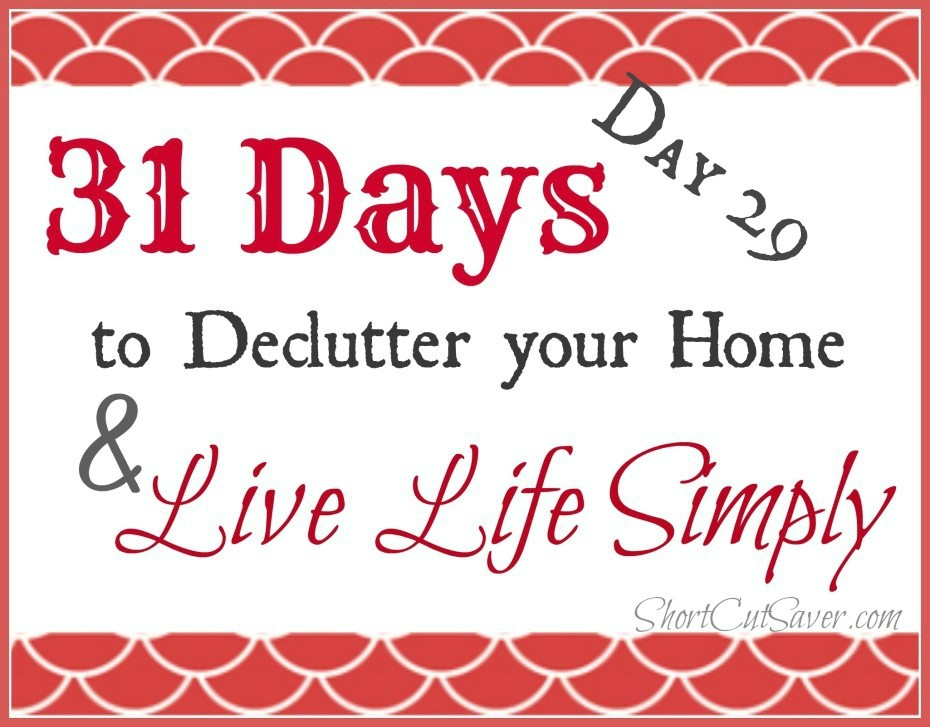 31 Days to Declutter Your Home & Live Life Simply: Cookbooks & Recipes