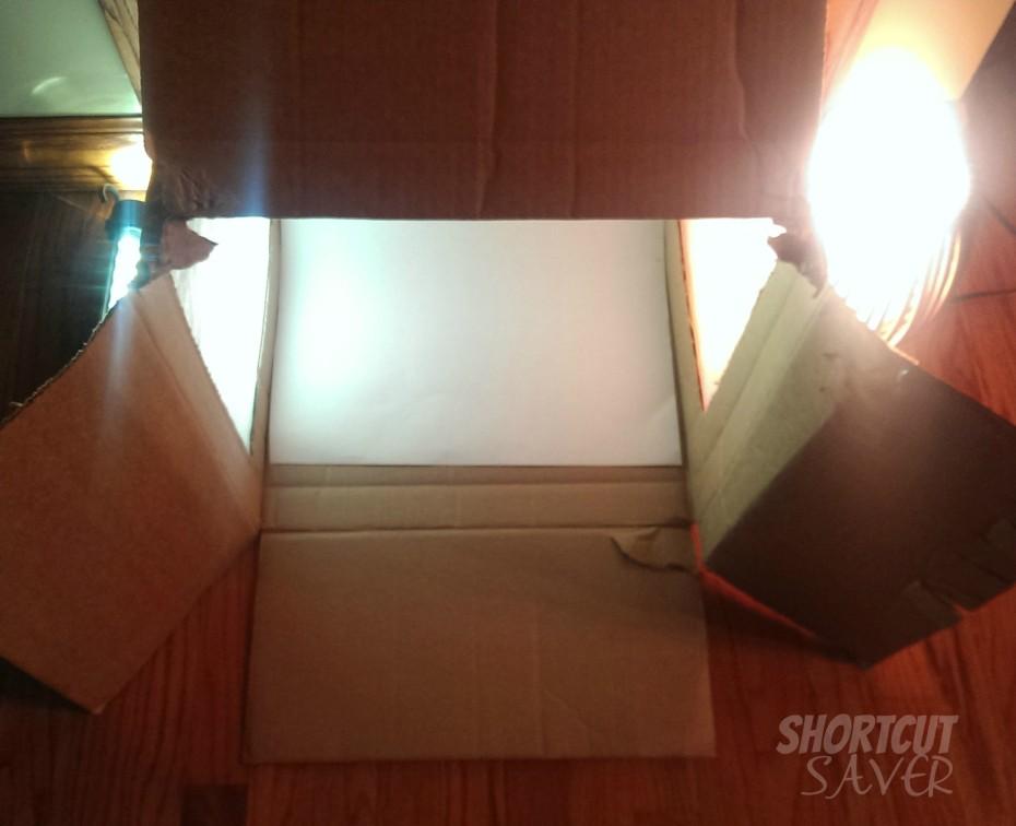 diy photo light box with lights