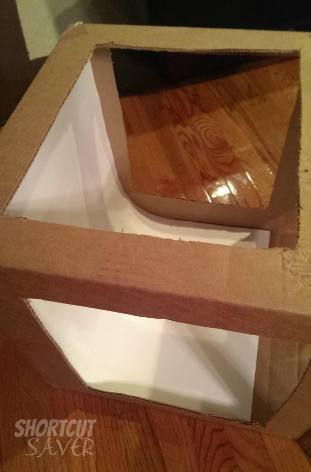 photo light box steps