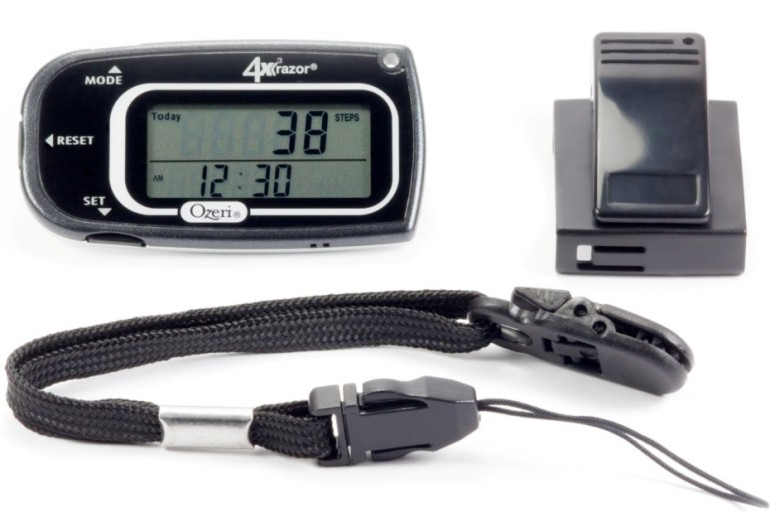 Keep Track of your Steps with the Ozeri 4x3razor Digital Pocket 3D Pedometer