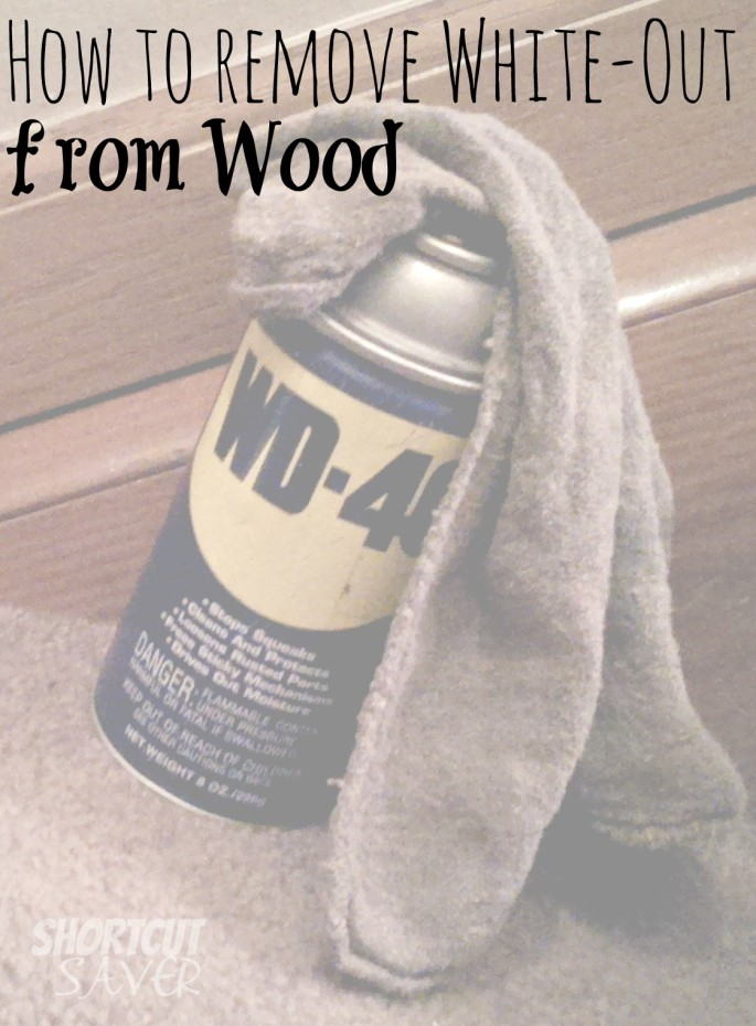how to remove white-out from wood