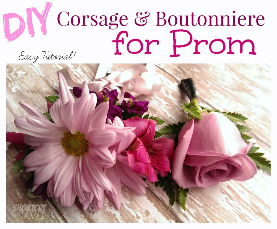 Diy Corsage And Boutonniere For Prom Everyday Shortcuts