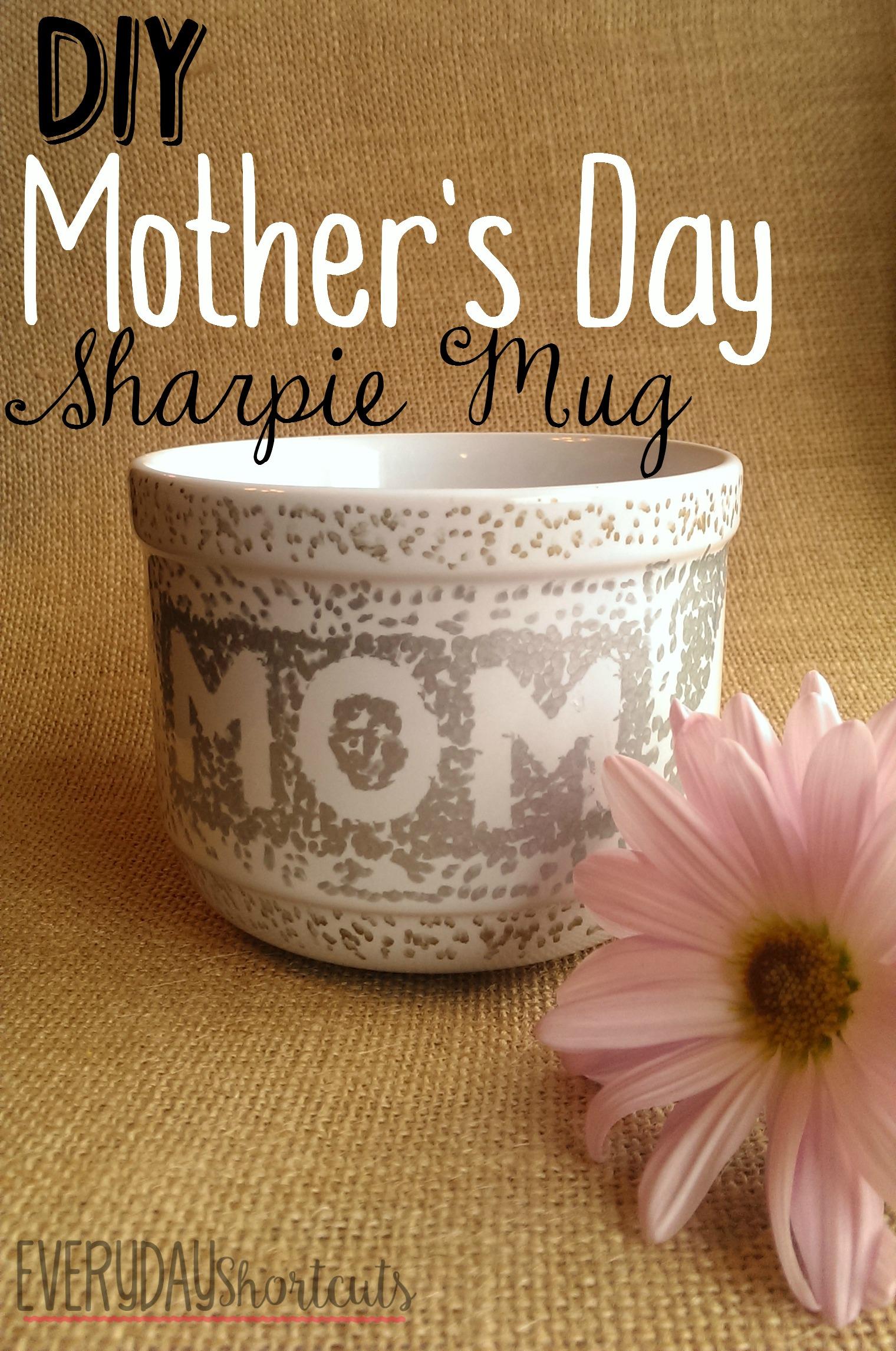 diy mother's day sharpie mug