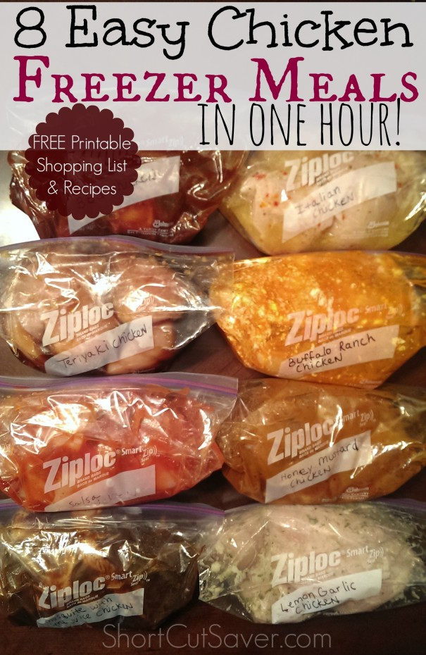 easy chicken freezer meals
