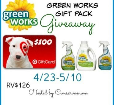 $100 Target Gift Card & Green Works Giveaway (ends 5/10)