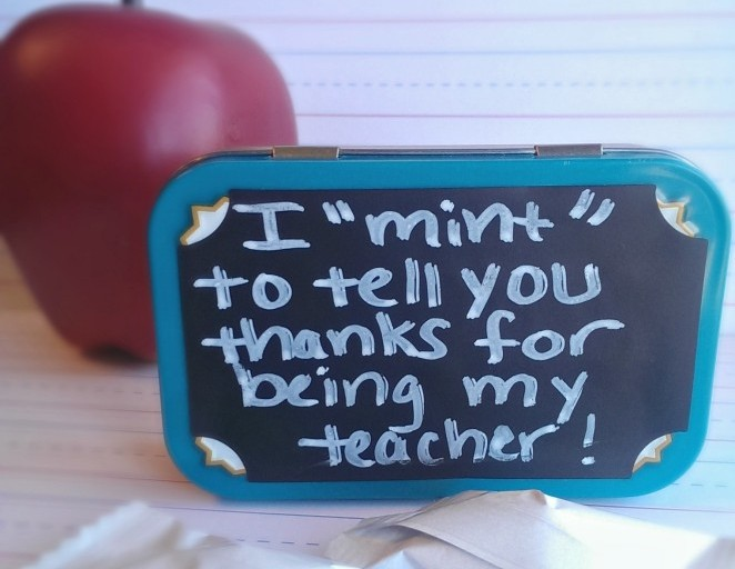 "Teacher Appreciation Gift Idea: I ""Mint"" To Tell You"