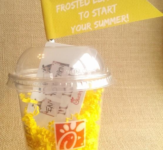 Teacher Appreciation Gift Idea: Chick-Fil-A Frosted Lemonade