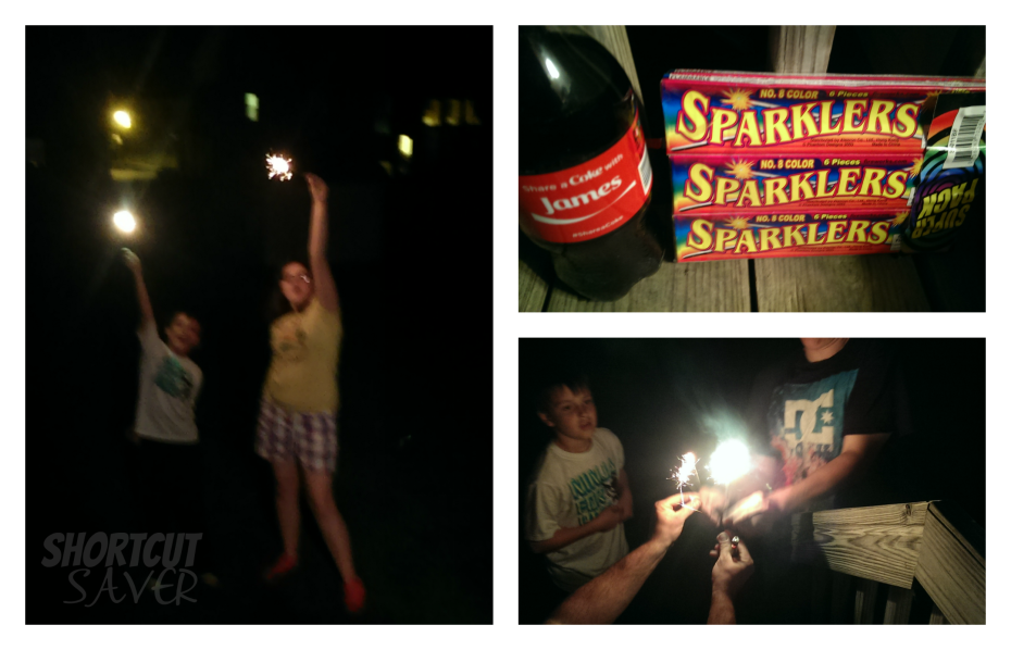 coke and sparklers
