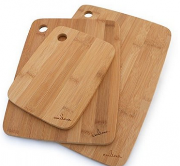 Amazon: Set of 3 Culina Bamboo Wood Cutting Board $12.68 (reg. $49.95).