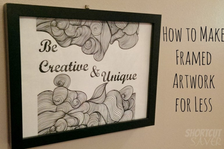 How to Make Framed Artwork for Less