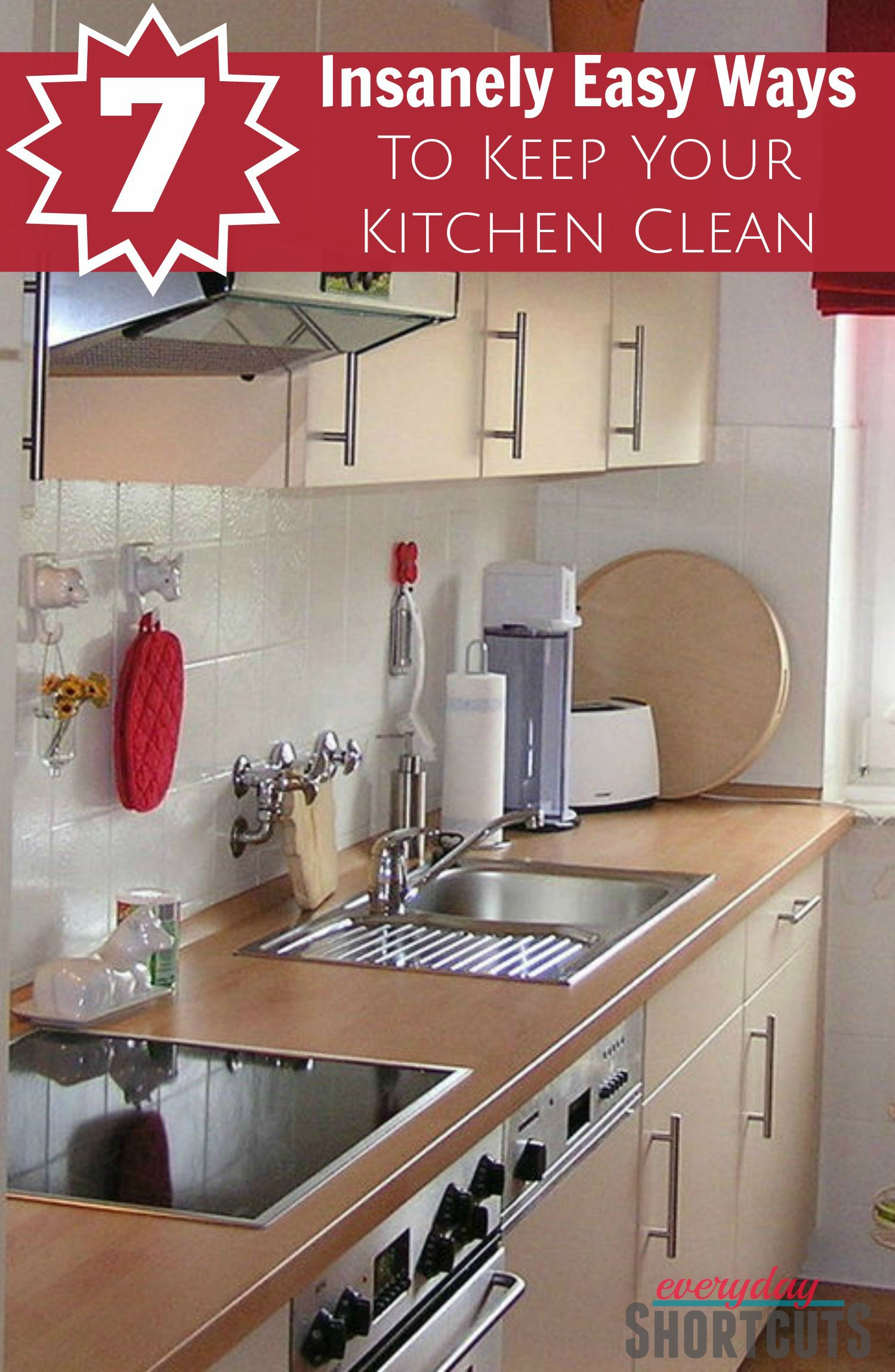 easy way to clean kitchen cabinets 7 insanely easy ways to keep your kitchen clean everyday 9640