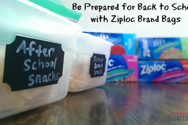 Be Prepared for Back to School with Ziploc Brand Bags