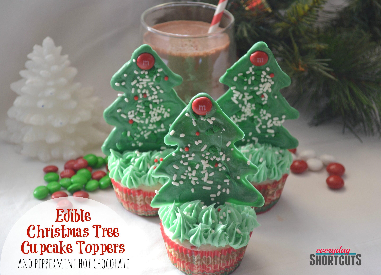 Edible Christmas Tree Cupcake Toppers