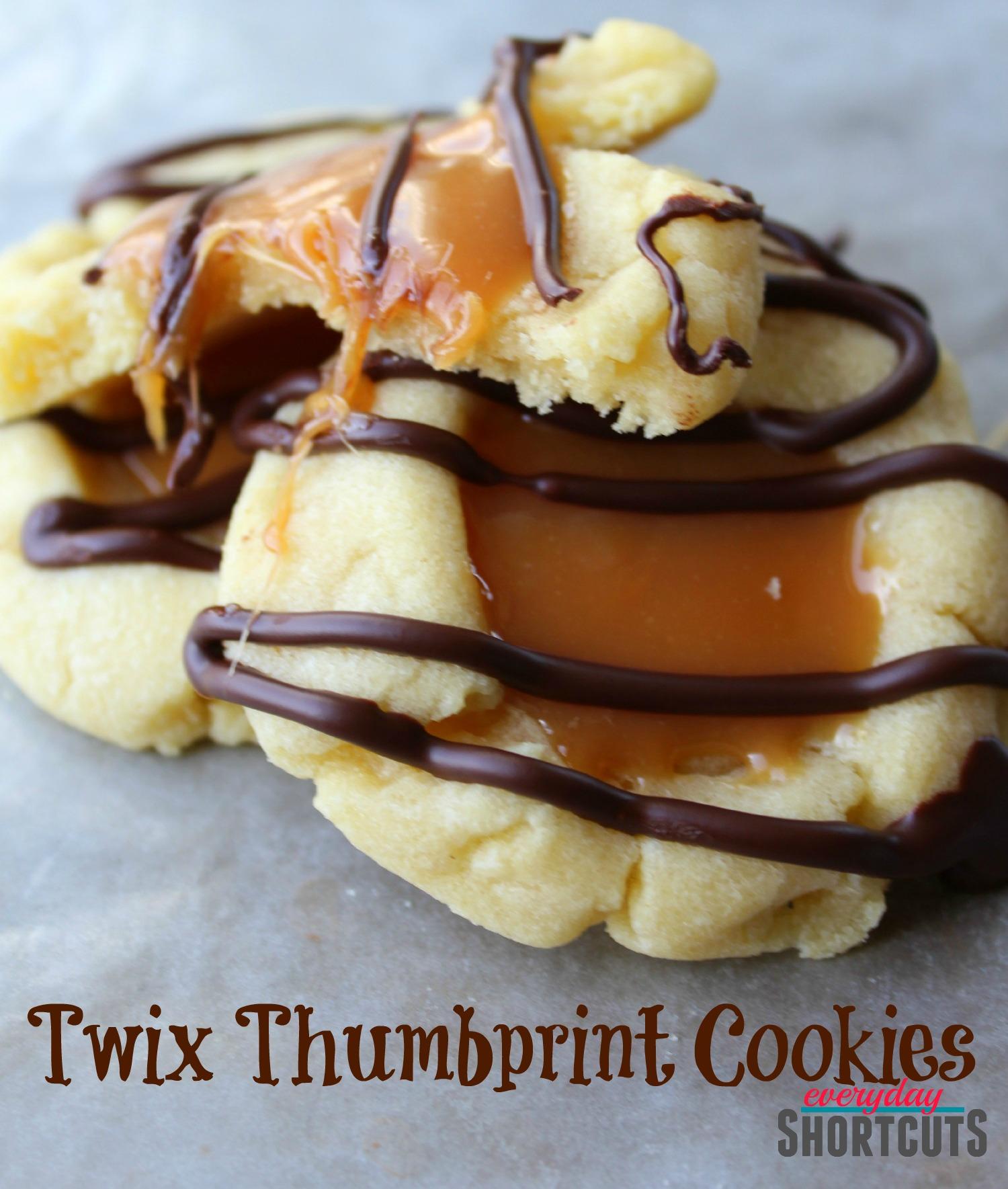 twix thumbprint cookies