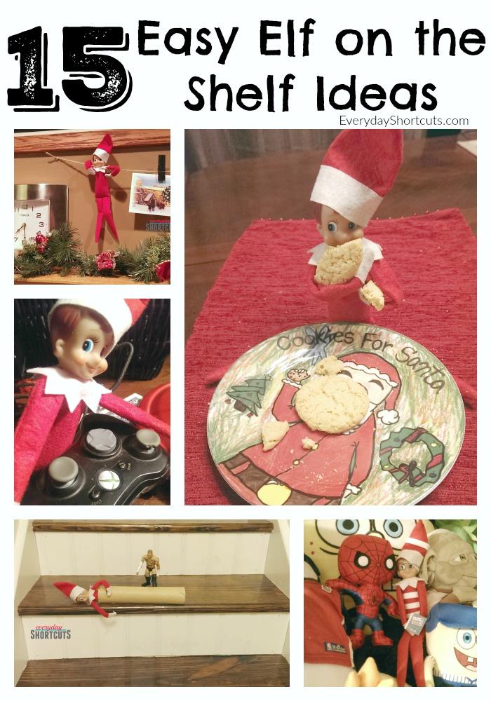15 easy elf on the shelf ideas
