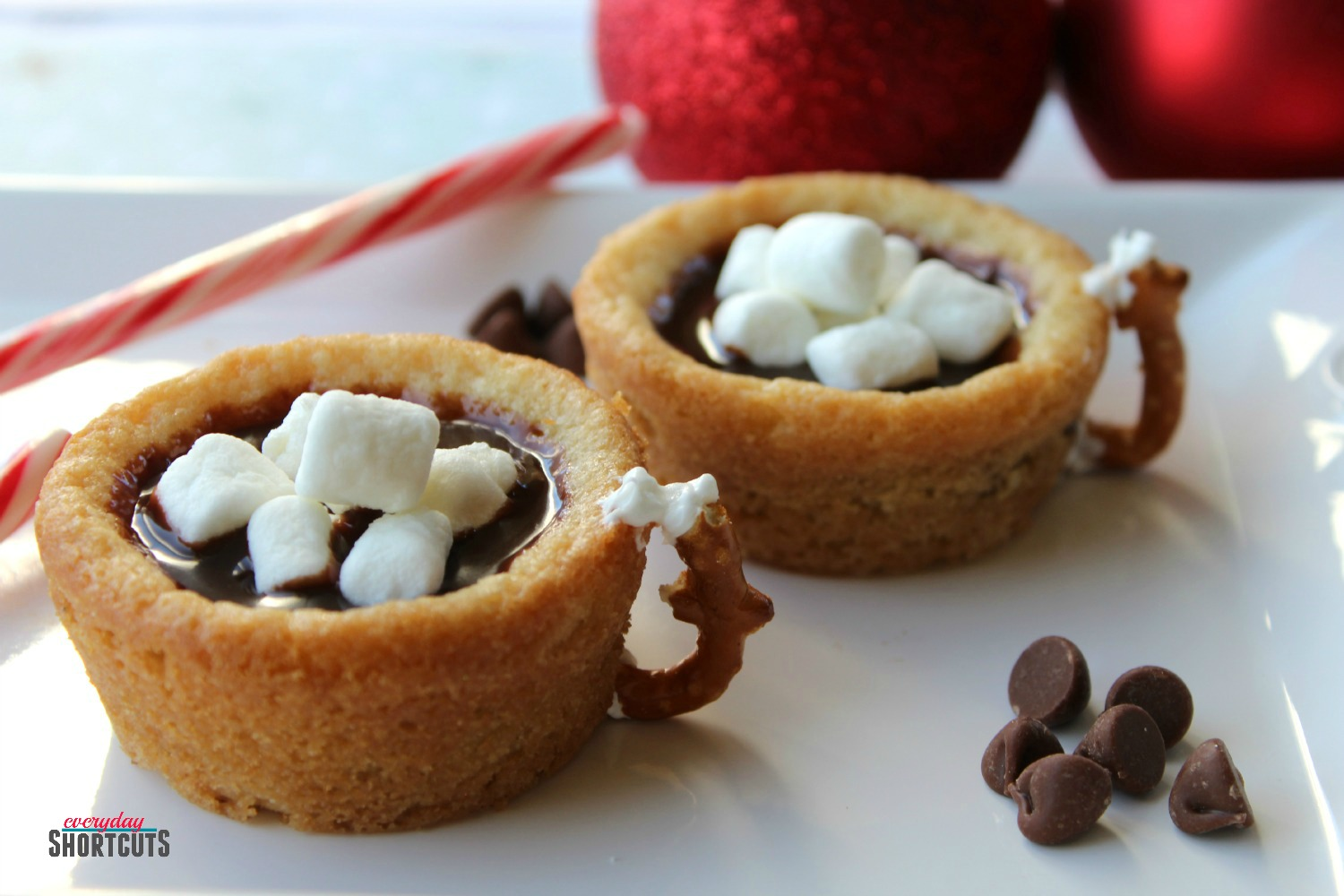 Hot Chocolate Cookie Cups - Everyday Shortcuts