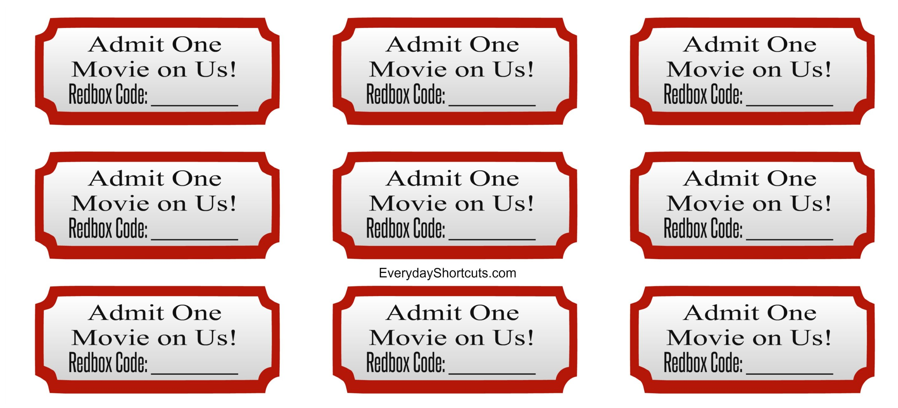 admit one movie on us