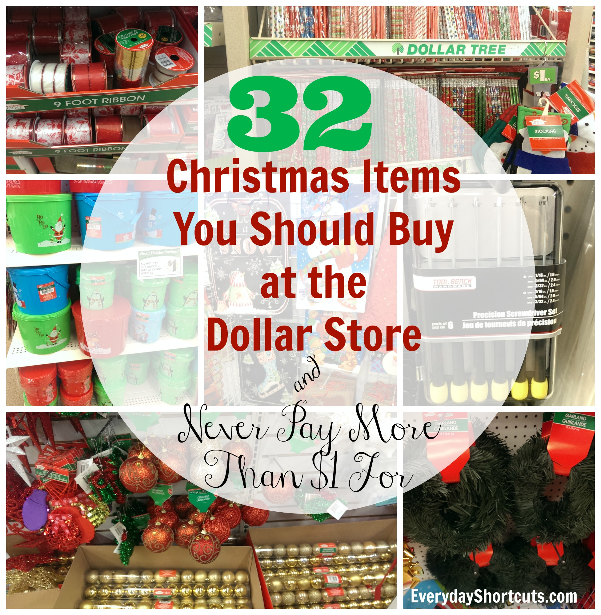 christmas items you should buy at the dollar store
