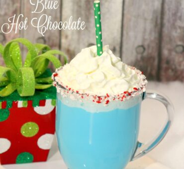 Frozen Blue Hot Chocolate