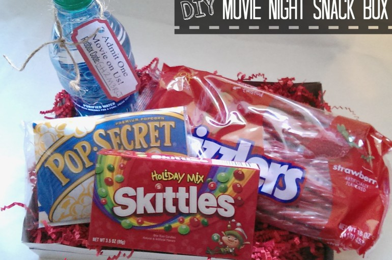 DIY Movie Night Snack Box