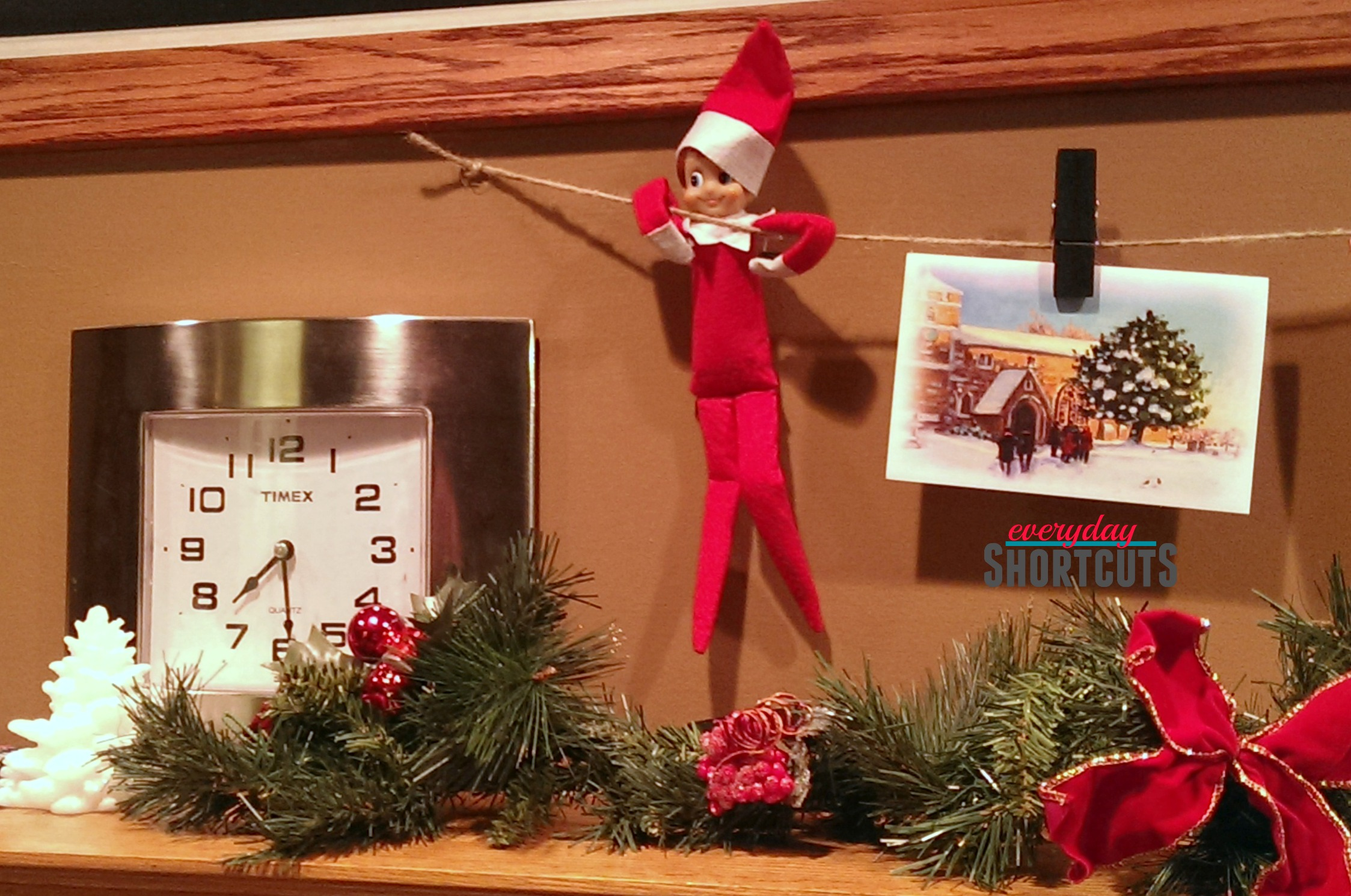 elf-on-the-shelve-with-christmas-cards