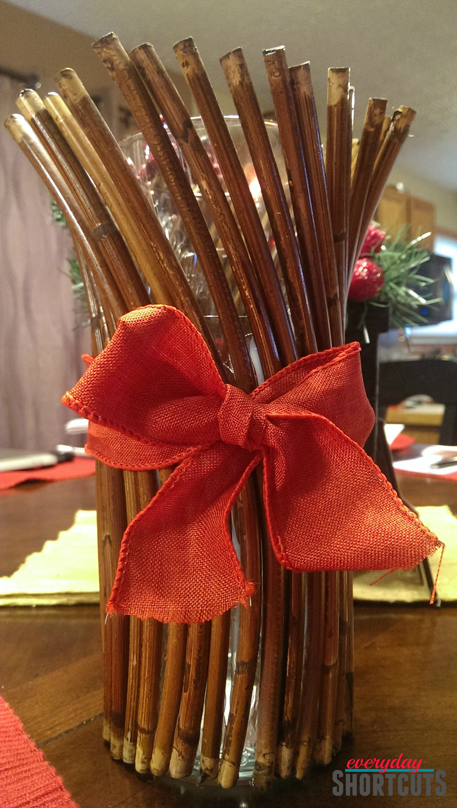 holiday centerpiece stick candle holder