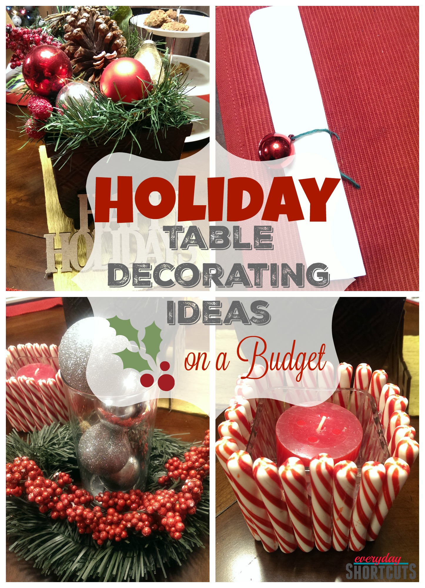 holiday table decorating ideas on a budget