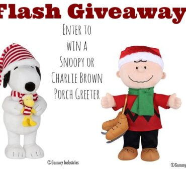FLASH GIVEAWAY! Win a Charlie Brown or Snoopy Porch Greeter (ends tonight 12/22)