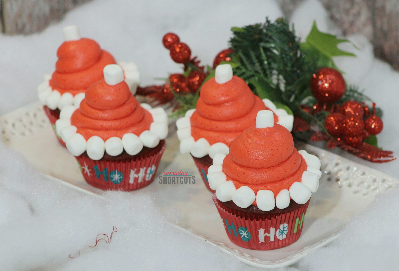 santa-hat-cupcake