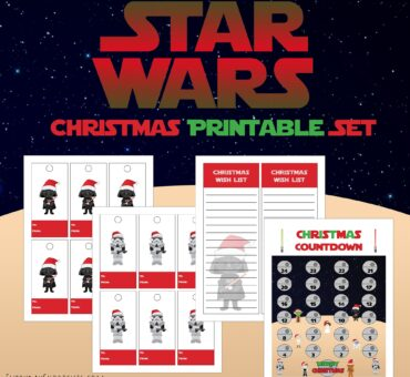 Star Wars Themed Christmas Printable Set – Wish List, Gift Tags, & Christmas Countdown