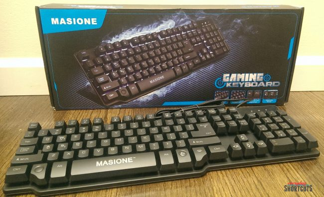 Gaming Keyboard By Masione Everyday Shortcuts