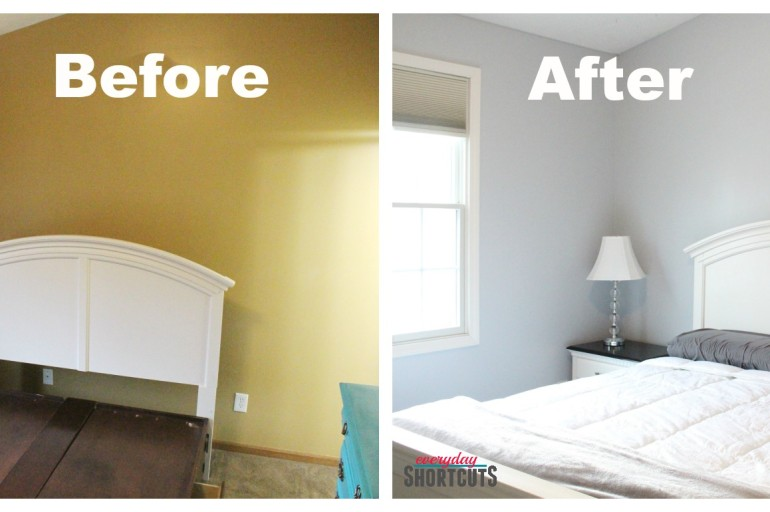 Master Bedroom Makeover with HGTV Home by Sherwin-Williams Paint