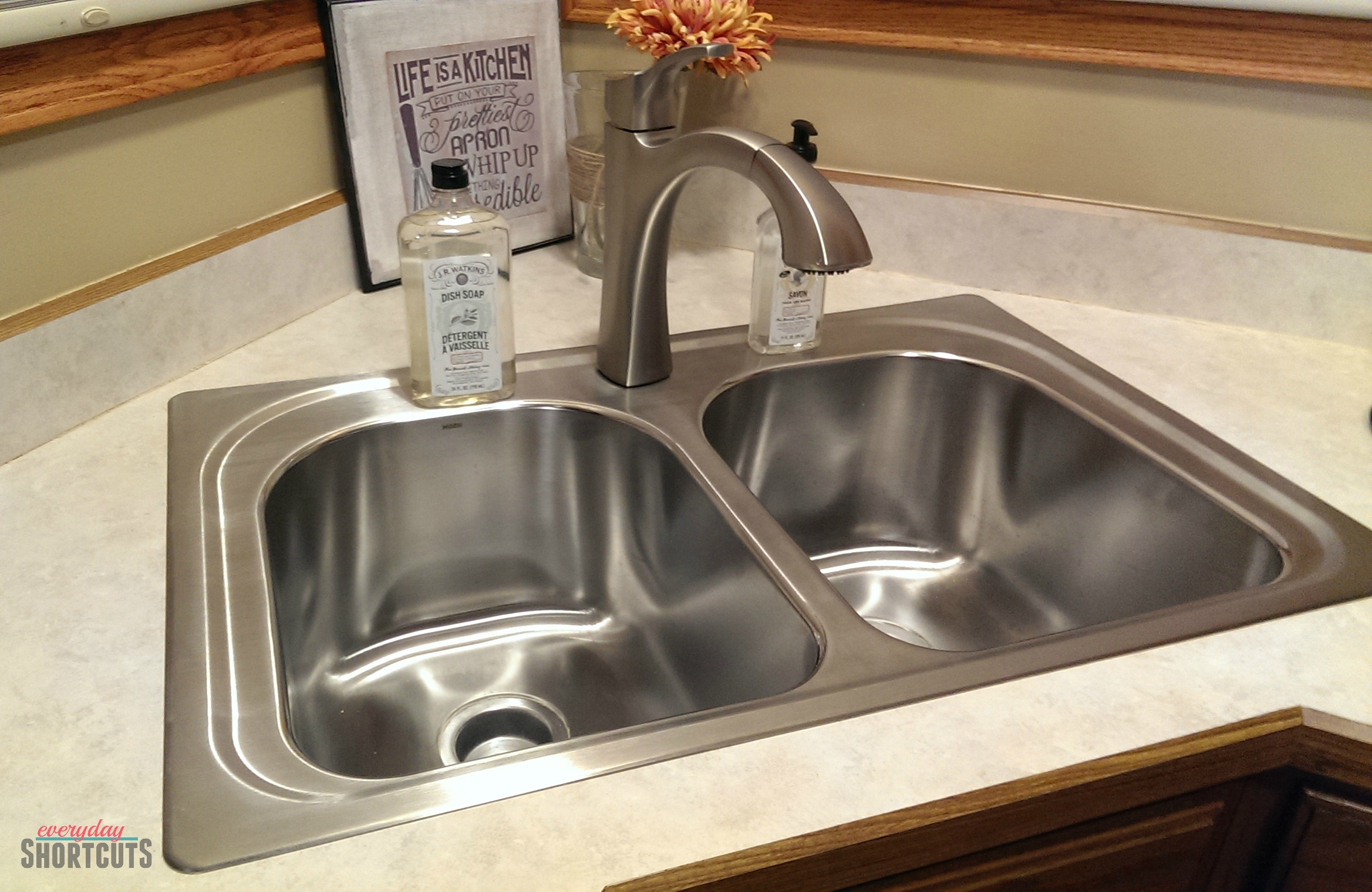 diy moen kitchen sink & faucet install - everyday shortcuts