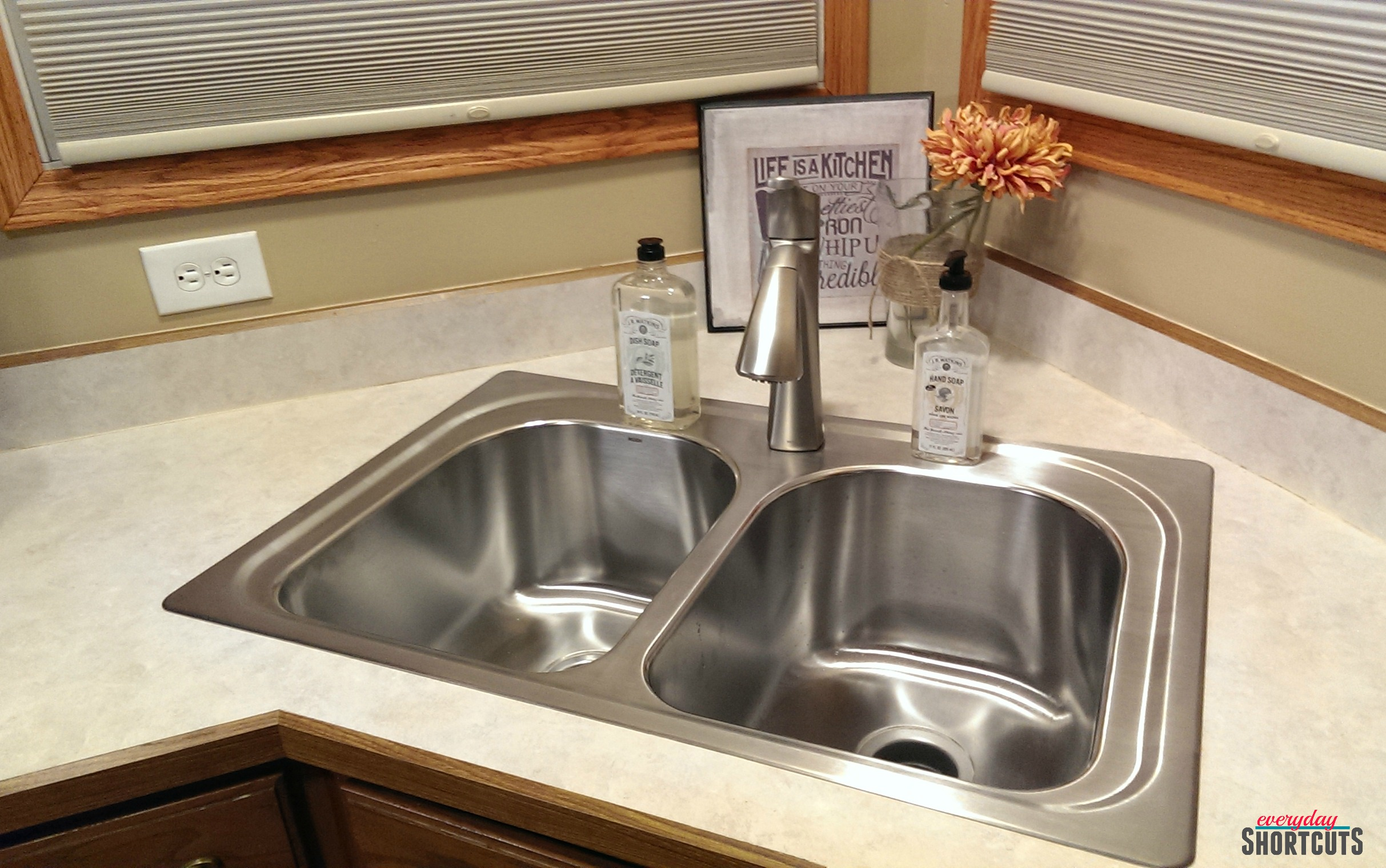 DIY Moen Kitchen Sink & Faucet Install Everyday Shortcuts