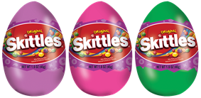 Skittles Filled Eggs