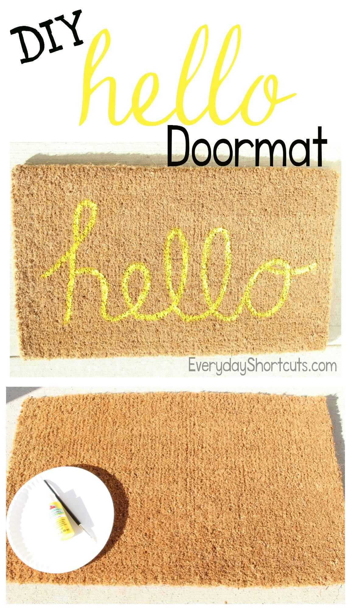 diy hello saying doormat