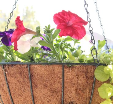 DIY Hanging Flower Basket