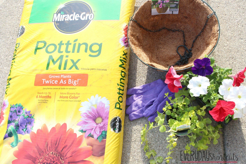 Hanging Flower Baskets Supplier : Diy hanging flower basket everyday shortcuts