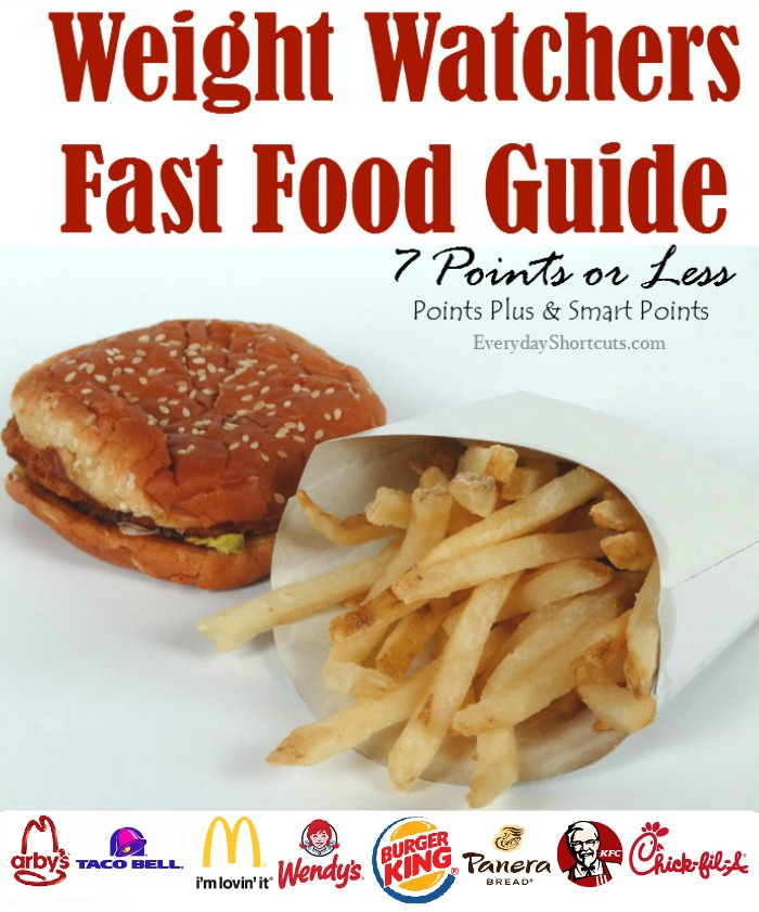 best fast food on weight watchers points plus coastnews. Black Bedroom Furniture Sets. Home Design Ideas