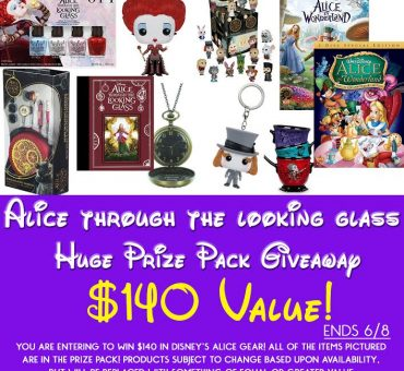 Alice Through the Looking Glass Prize Pack Giveaway