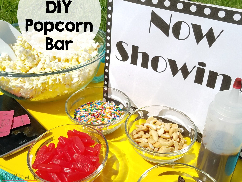 diy popcorn bar