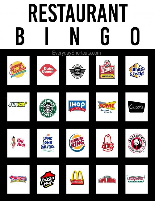 image relating to Disney Bingo Printable named Cafe Bingo - Day-to-day Shortcuts