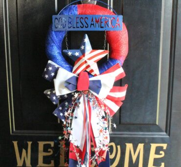 Dollar Store Patriotic Wreath