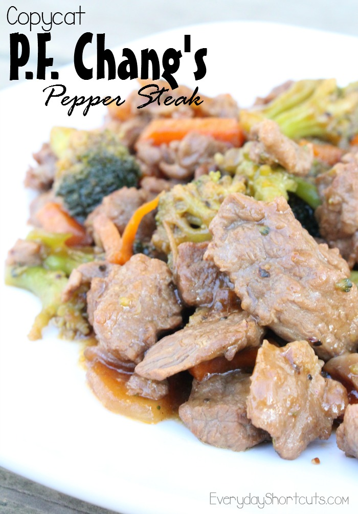 Copycat P F Chang S Pepper Steak Everyday Shortcuts