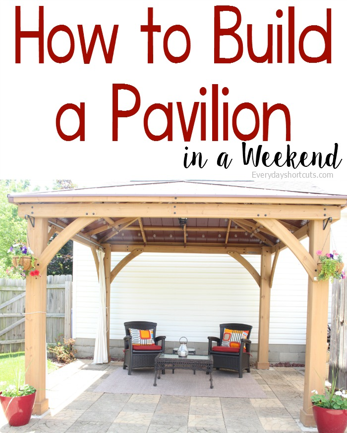 How to build a pavilion in a weekend everyday shortcuts - How to build an outdoor kitchen a practical terrace ...
