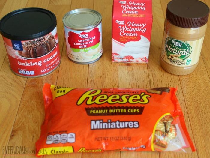 no churn reeeses ice cream ingredients