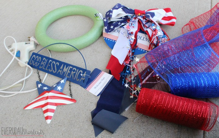 patriotic wreath supplies